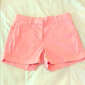 J Crew size 2 chino shorts in pink
